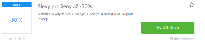 Slevový kód Mango