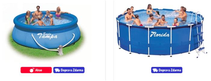 Sleva na nadzemní bazény