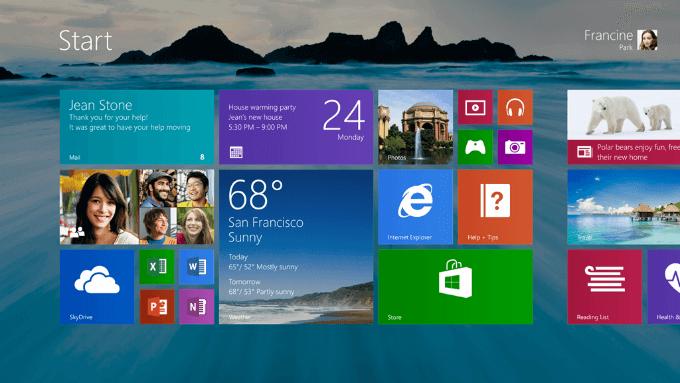 Uživatelské prostředí v nejnovějším Windows 8.1