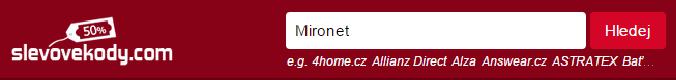 Sleva na Mironet.cz