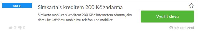 využití slevy na mobil.cz