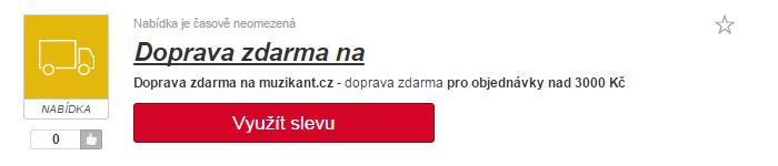 využití slevy muzikant.cz