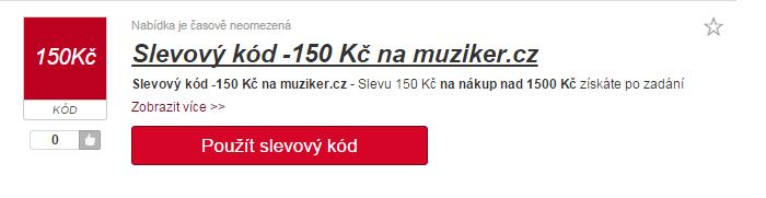 Slevový kód Muziker.cz