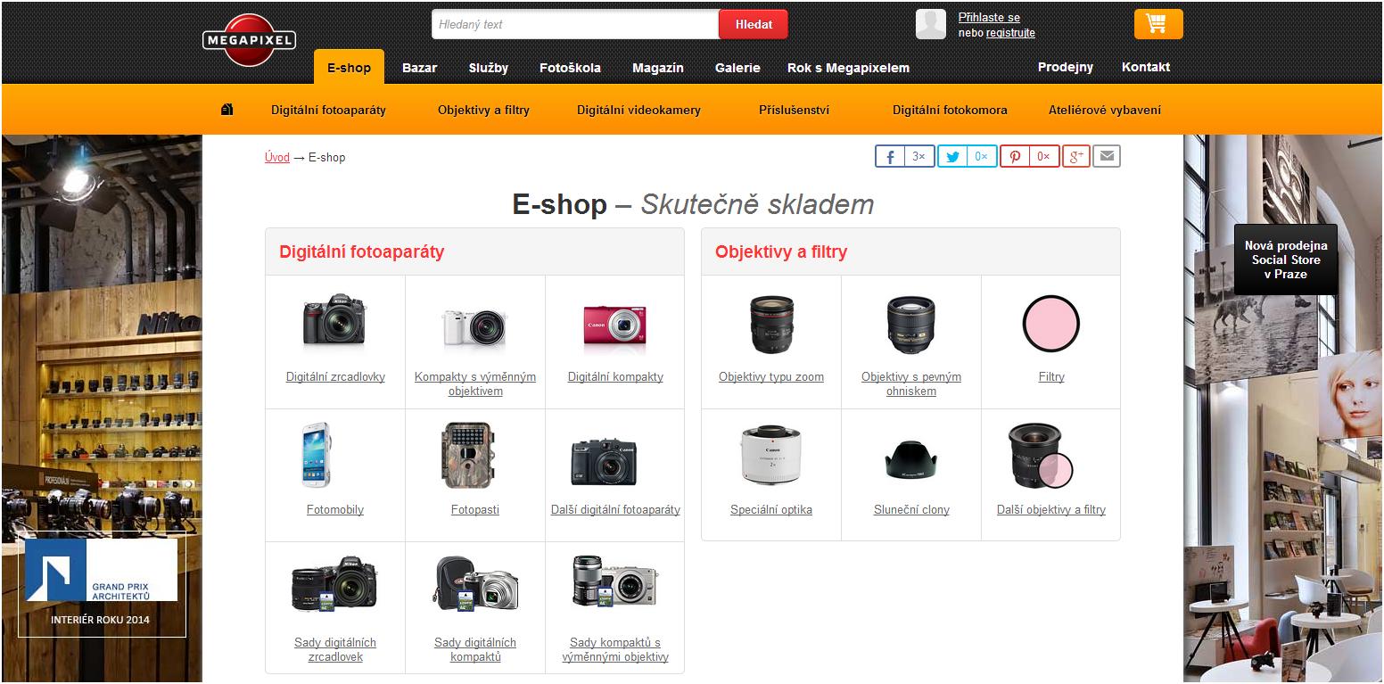 e-shop megapixel slevové kupóny