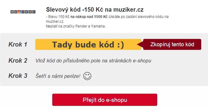 Slevový kód na Muziker.cz