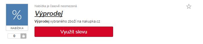 využití slevy na nakupka.cz