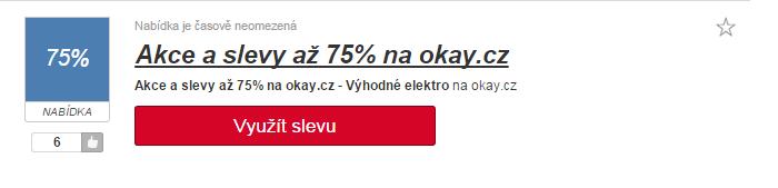 využití slevy Okay.cz