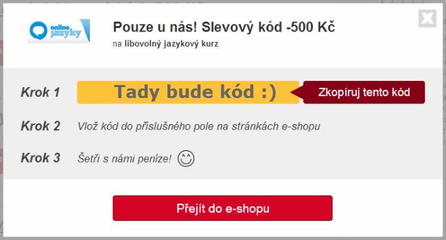 Slevový kupón online jazyky