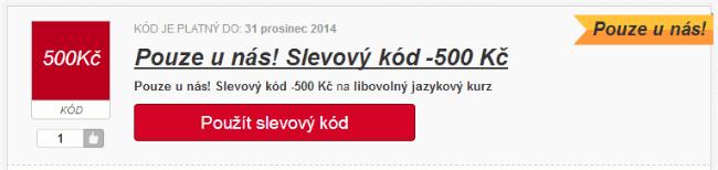 Slevový kód 500 Kč na onlinejazyky.cz