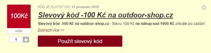 Výběr slevy na outdoor-shop.cz