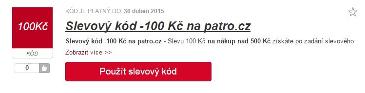 Slevový kód na patro.cz
