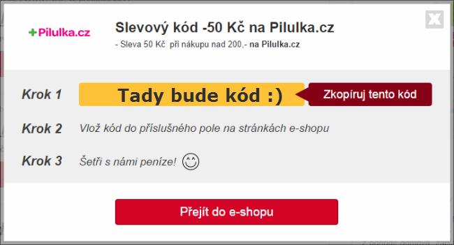 Slevovoý poukaz Pilulka.cz