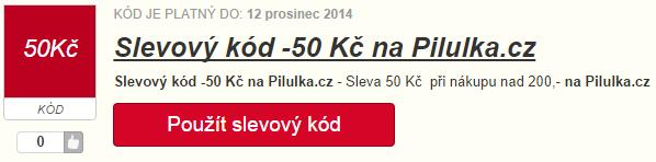 Slevový kód Pilulka.cz