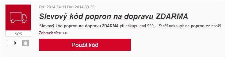 slevový kupón popron.cz