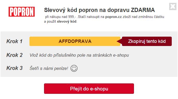 kód slevového kupónu popron.cz