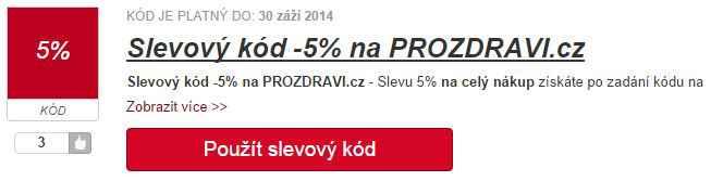 Slevový kód prozdravi.cz