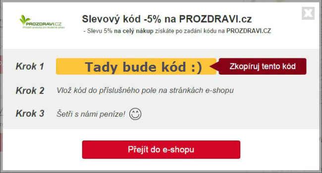 Slevový kupón prozdravi.cz