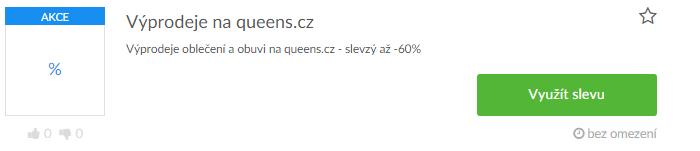 Využití slevy na Queens.cz