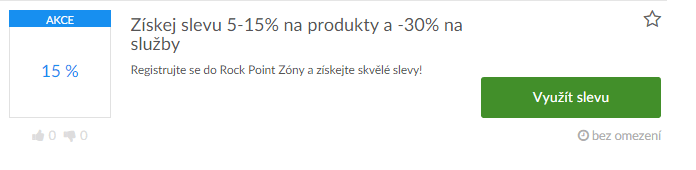 Využití slev na rockpoint.cz