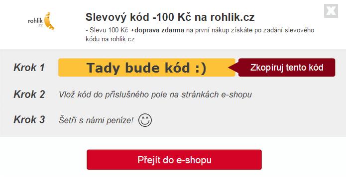 Slevový kód na rohlík.cz