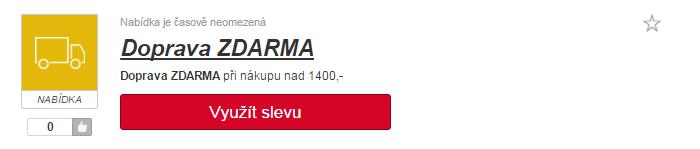 Doprava zdarma ruzovyslon.cz