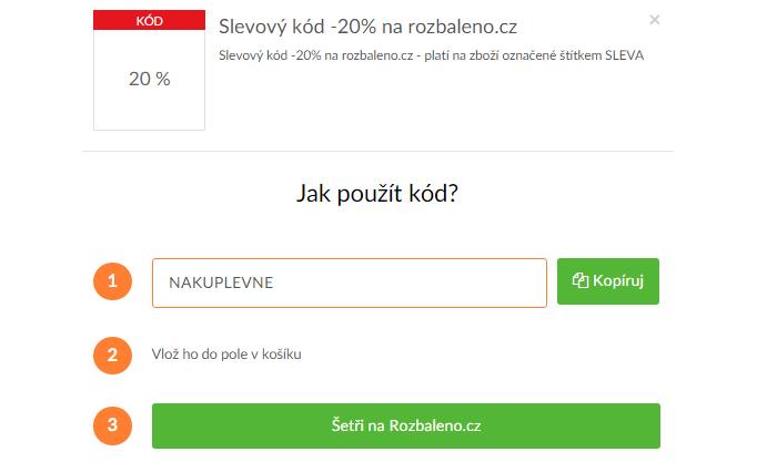 Slevový kód rozbaleno.cz