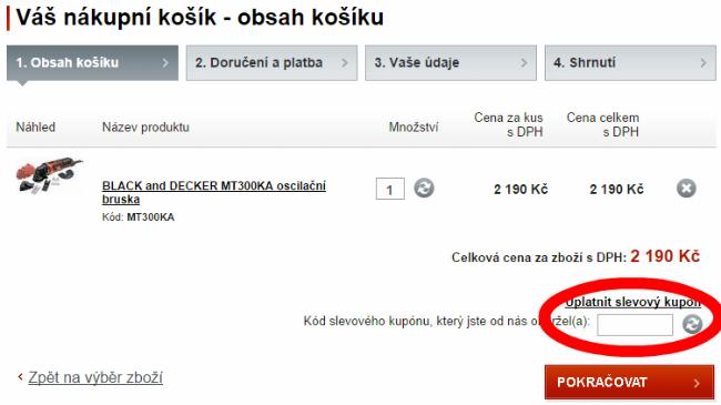Jak uplattnit slevový kupón na rucni-naradi.cz