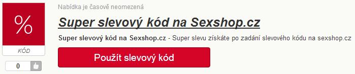 Slevový kód na Sexshop.cz