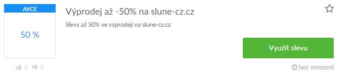 využití slevy slune-cz.cz