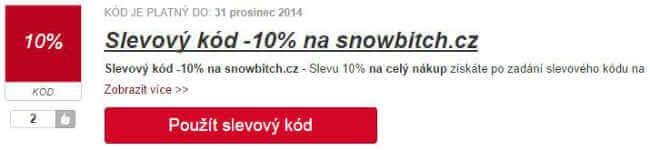 Slevový kód snowbitch.cz
