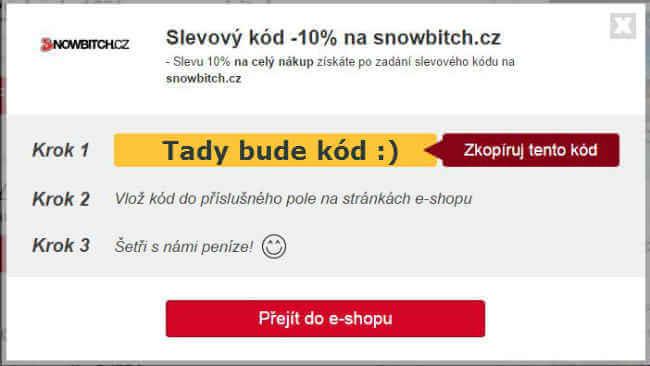 Slevový kupón snowbitch.cz