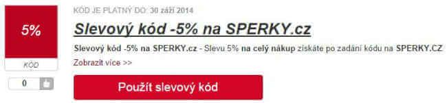 Slevový kód sperky.cz