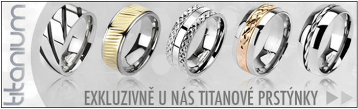 Titanové prsteny levně