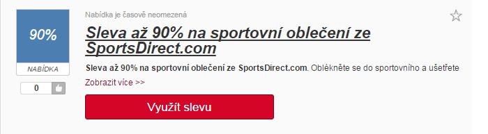 Využití slevy portsdirect.com