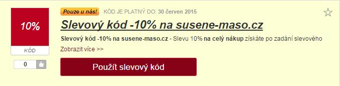 Výběr slevy a susene-maso.cz