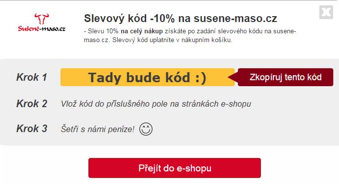 Slevový kód na susene-maso.cz