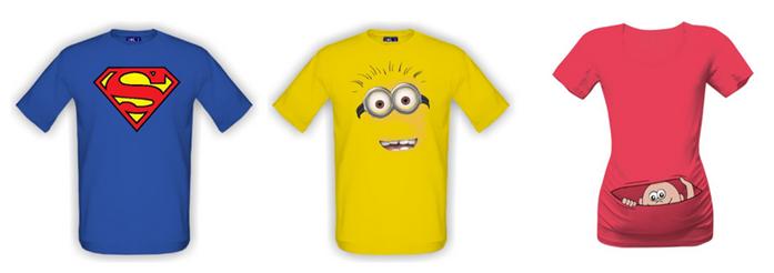 trička s potiskem sleva
