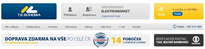 Slevy na produkty tsbohemia.cz