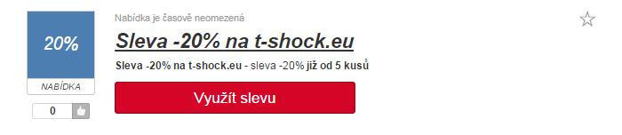 slevové kódy t-shock.eu