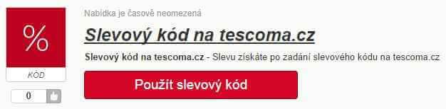 Slevový kód tescoma.cz
