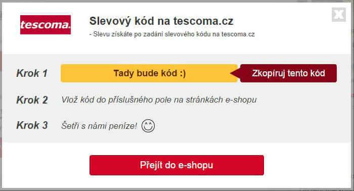 Slevový kupón tescoma.cz