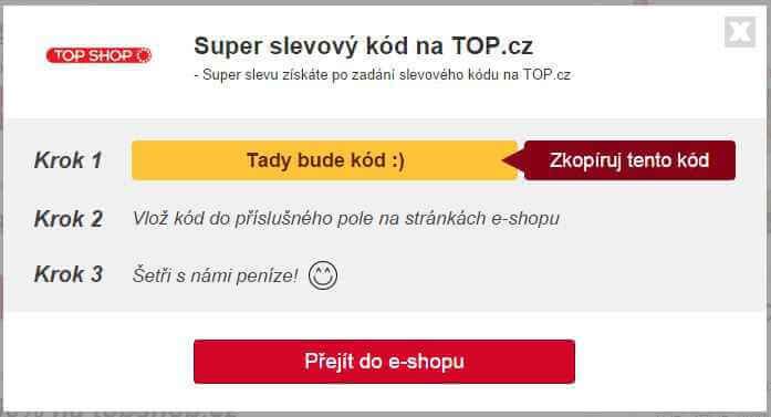Slevový kupón topshop.cz