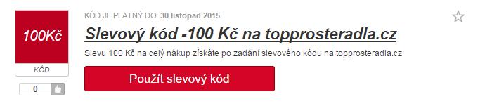 využití slevy na topprosteradla.cz