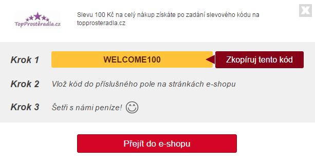 Využití slevového kódu na toprosteradla.cz