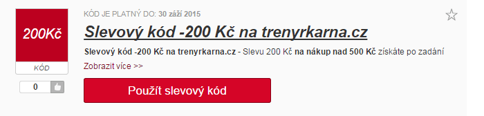 Slevový kód trenyrkarna.cz
