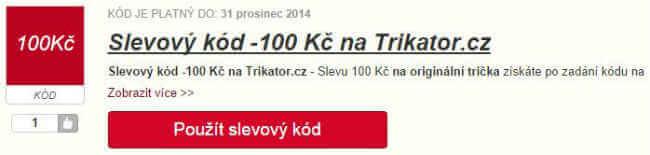 slevový kód Trikator