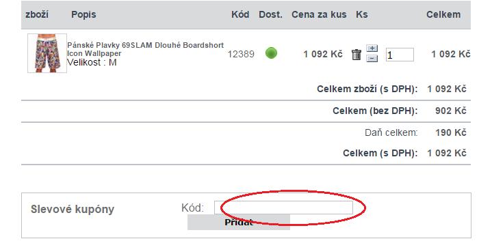 Využití slevového kódu na trenyrkarna.cz