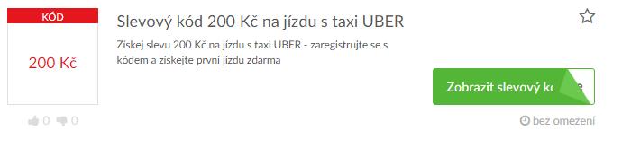 využití slevy UBER