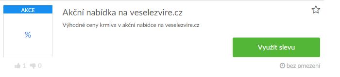 Využití slevy na veselezvire.cz