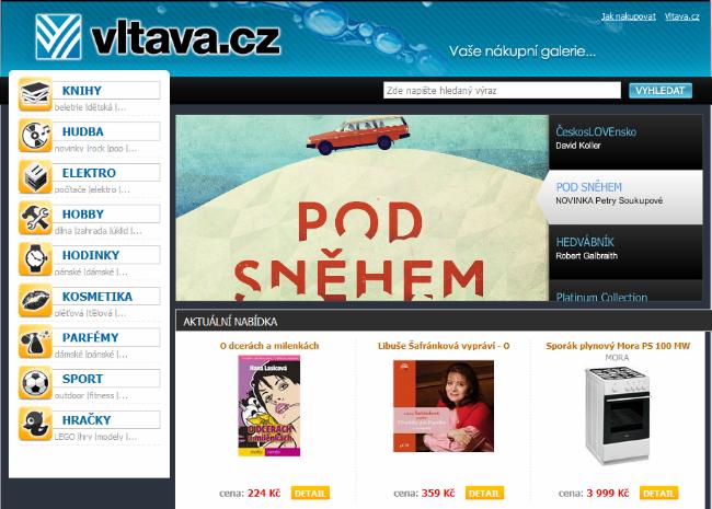 Takto vypadá nákupní galerie Vltava.cz